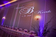 Lucien's purple Uplight and Monogram