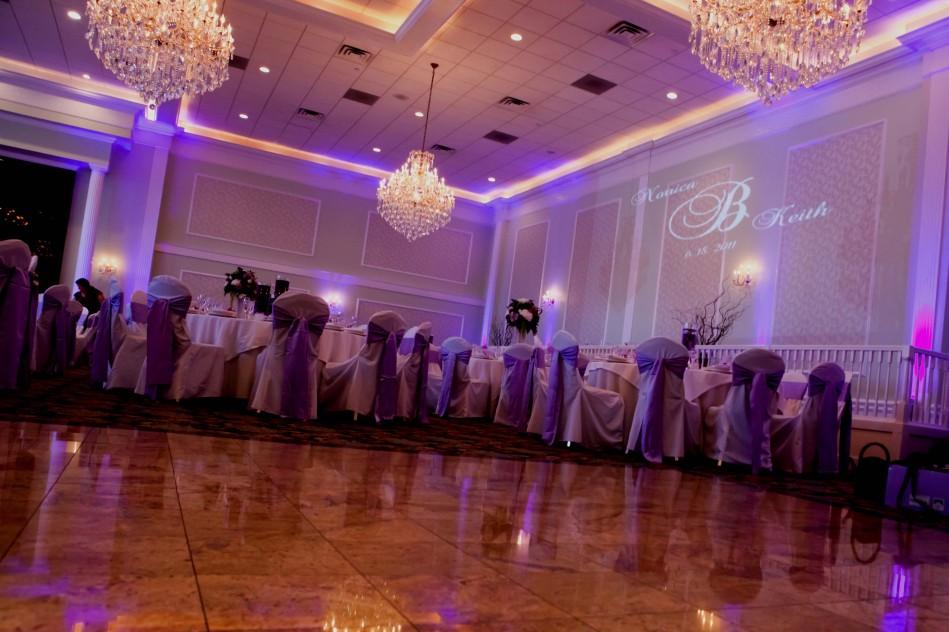 purple uplight Lucien's manor grand versaiiles