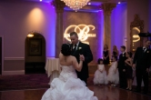 First dance in front of monogram